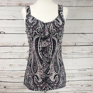 White House Black Market Colorful Blouse Small